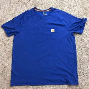 CARHARTT FORCE RELAXED FIT BLUE POCKET T-SHIRT